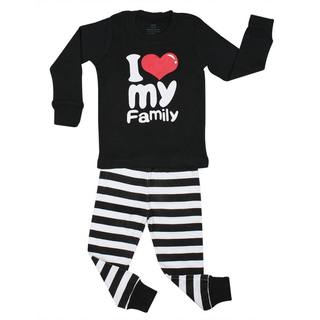 Elowel I Love Family 2-piece Pajama Set