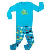 Elowel Boys' Whale Fish 2-piece Pajama Set