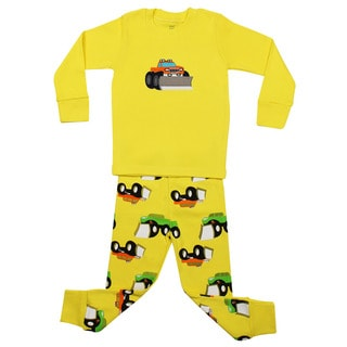 Elowel Boys' Truck 2-piece Pajama Set