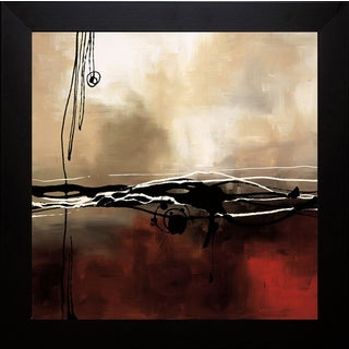 Laurie Maitland 'Symphony in Red and Khaki l' Framed Artwork