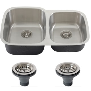 Phoenix 32-inch Stainless Steel 18-gauge Undermount Double Bowl Kitchen Sink