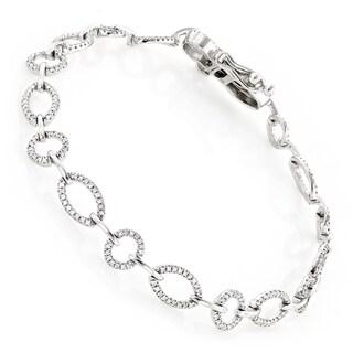 Pave Bracelets 14k White Gold 1 1/3ct TDW Diamond Bracelet (H-I, SI1-SI2)