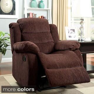 Furniture of America Aurese Chenille Recliner
