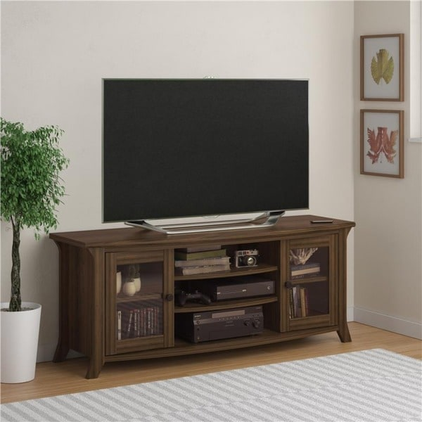 Bon Ameriwood Home Oakridge Entertainment Stand With Glass Doors   N/a