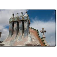 Casa Batllo, Barcelona' Photography Canvas Art