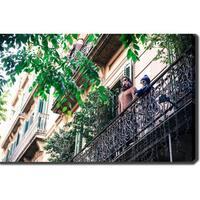 Barcelona' Photography Canvas Art - Multicolor