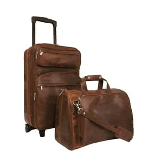 Amerileather Waxy Brown Leather 2-piece Carry On Luggage Set|https://ak1.ostkcdn.com/images/products/9767431/P16937825.jpg?impolicy=medium