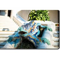 Park Guell, Barcelona' Photography Canvas Art