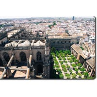 Seville, Spain' Photography Canvas Art - Grey