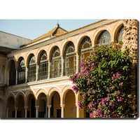 Alcazar of Seville, Spain' Photography Canvas Art - Multi