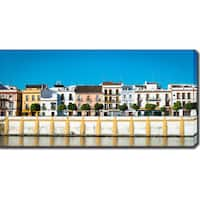 River Bank, Seville, Spain' Photography Canvas Art
