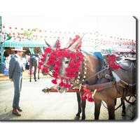 Feria de Sevilla, Seville, Spain' Photography Canvas Art