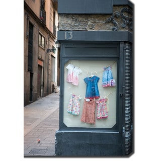 Children's Boutique in Old Town, Barcelona' Photography Canvas Art