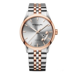 Raymond Weil Men's 2770-SP5-65011 'Freelancer' Automatic Silver Dial Two Tone Watch