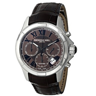 Raymond Weil Men's 7260-STC-00718 'Parsifal' Chronograph Automatic Brown Leather Watch