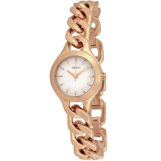 DKNY Women's NY2214 Chambers Round Rose-Gold Bracelet Watch