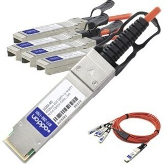AddOn Cisco QSFP-4X10G-AOC15M Compatible TAA Compliant 40GBase-AOC QS