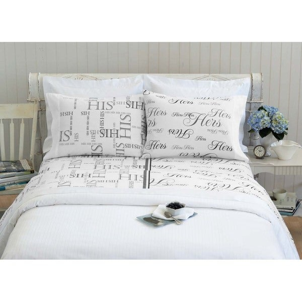 Bed Hog His And Hers 300 Thread Count Sheet Set Free Shipping Today 9769075
