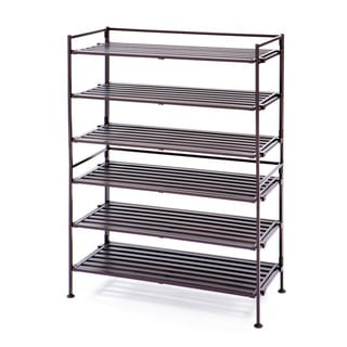 Seville Classics 3-Tier Resin Wood Composite Shoe Rack (2-Pack)