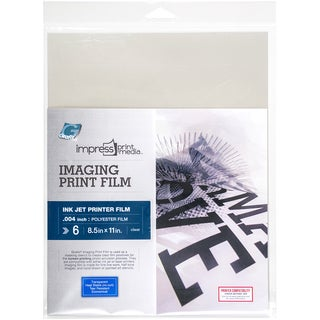 "Impress Imaging Ink Jet Print Films 6/Pkg-8.5""X11"""