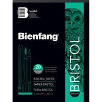 """Bienfang Bristol Board Smooth Paper Pad 9""""X12""""-20 Sheets"""
