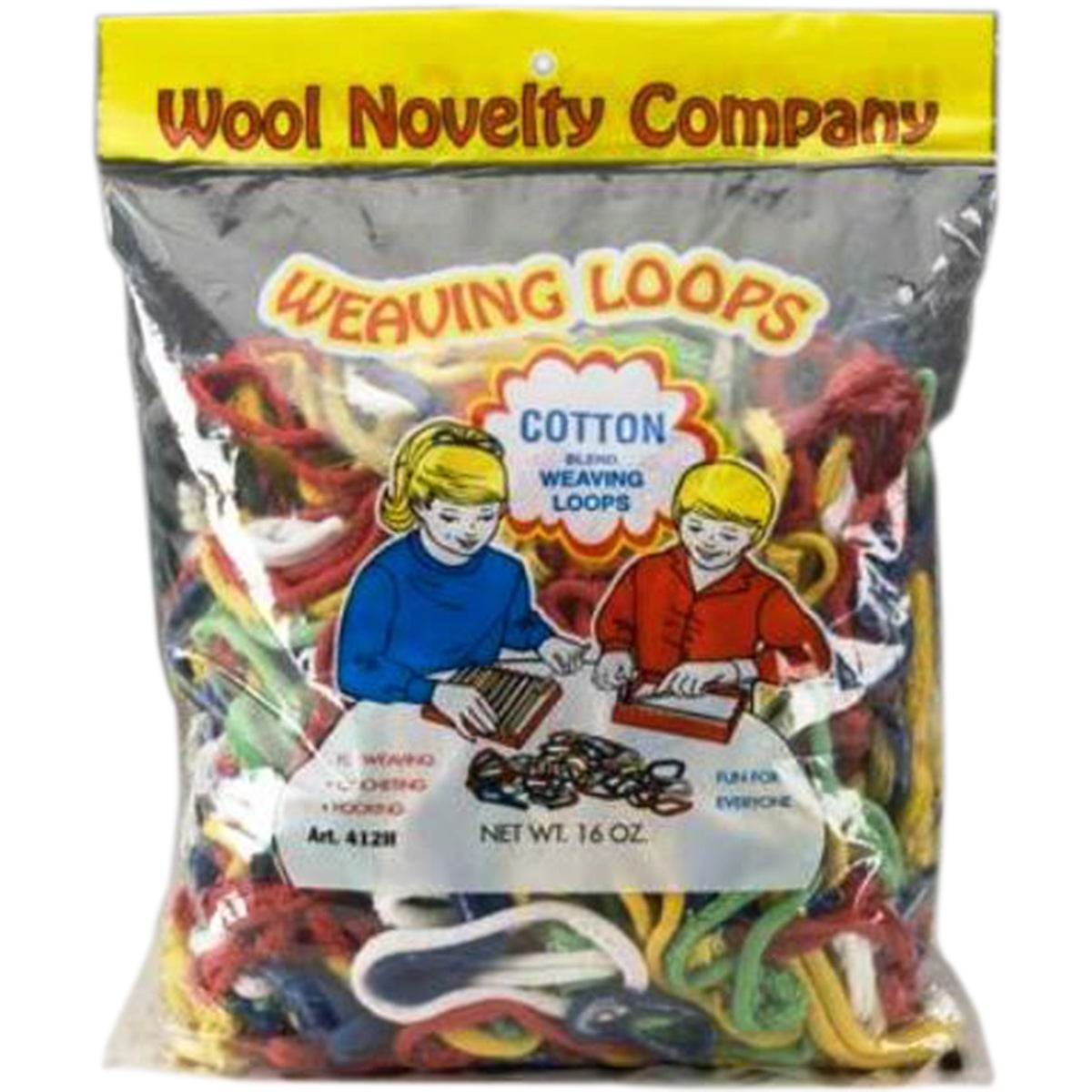 Wool Novelty Cotton Weaving Loops 16oz-Assorted (Assorted)