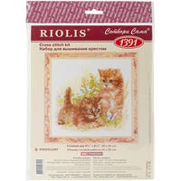 """Child's Play Counted Cross Stitch Kit-9.75""""X9.75"""" 14 Count"""
