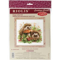 """Hedgehogs In Lingonberries Counted Cross Stitch Kit-9.75""""X9.75"""" 14 Count"""