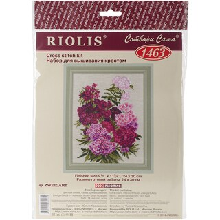 """Sweet William Counted Cross Stitch Kit-9.5""""X11.75"""" 14 Count"""
