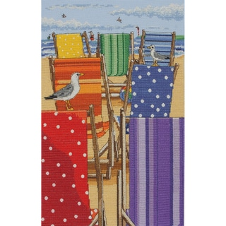 """Rainbow Deckchairs Counted Cross Stitch Kit-11.8""""X7.9"""" 16 Count"""