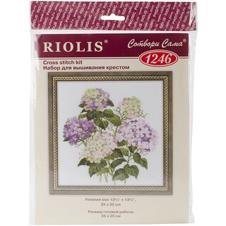 "Garden Hydrangea Counted Cross Stitch Kit-13.75""X13.75"" 14 Count"