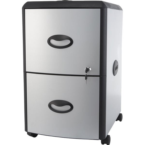 two drawer metal plastic file cabinet free shipping today 16939866. Black Bedroom Furniture Sets. Home Design Ideas