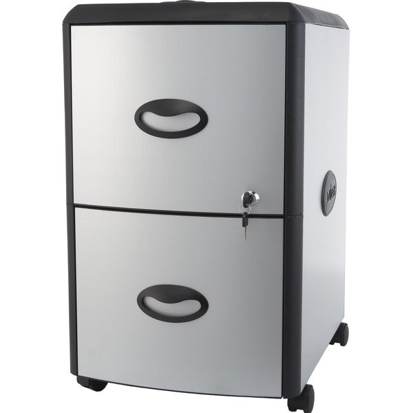 Superieur Storex Two Drawer Metal/ Plastic File Cabinet