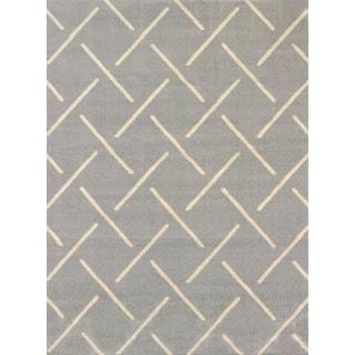 Effects Bernadette Grey Multi-texture Area Rug (7'10 x 10'6)