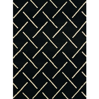 Effects Taylor Black Multi-texture Rug (1'10 x 3')