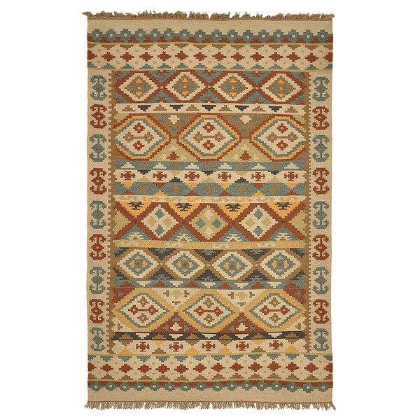 Kosas Home Lark Olive Green Tribal Pattern Indoor Outdoor
