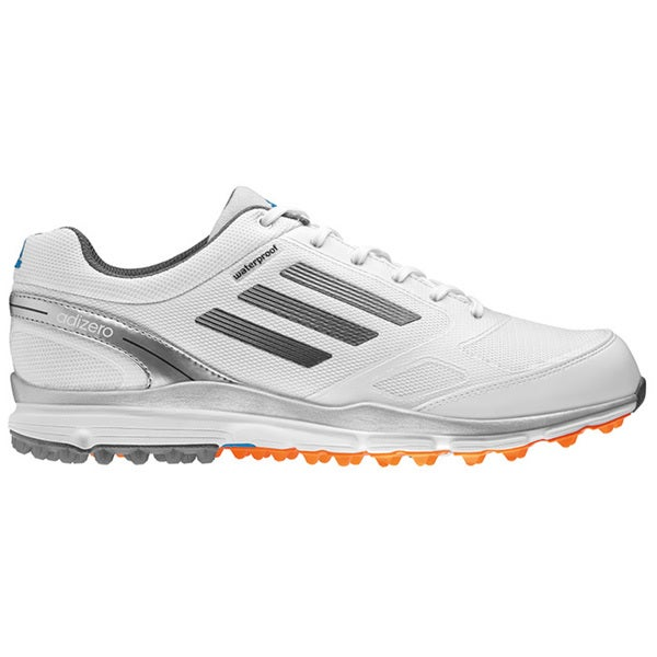 Adidas Men's Adizero Sport II White/ Dark Silver Golf Shoes - White/Metallic/Silver