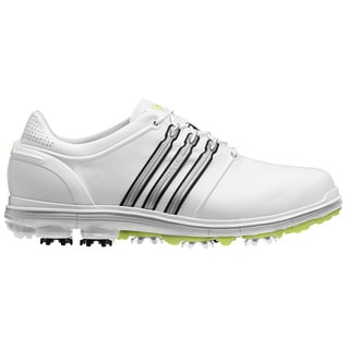 Adidas Men's Pure 360 White/ Metallic Silver/ Slime Golf Shoes