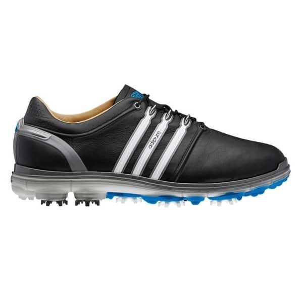 Shop Adidas Men S Pure 360 Black White Samba Blue Golf Shoes Overstock 9770275