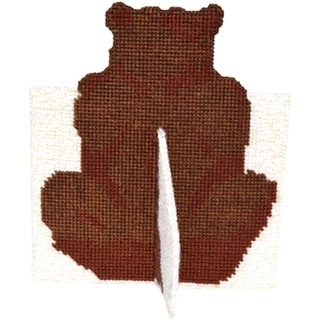 "Brown Bear Framous Plastic Canvas Kit-8""X6.9"" 10 Count"