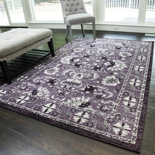 Canyon Purple Geometric Area Rug (8' x 11')