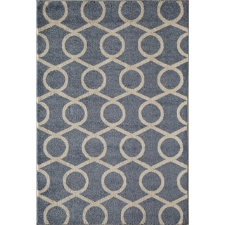 Canyon Blue Geometric Area Rug (8' x 11')