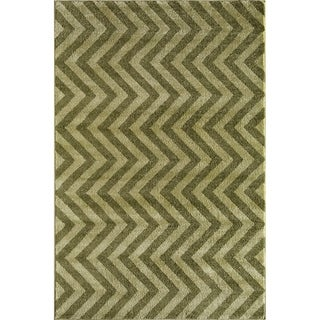 Canyon Green Geometric Area Rug (8' x 11')