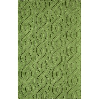 Amore Green Geometric Rug (8' x 10')