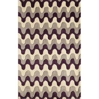 Amore Purple Geometric Rug (8' x 10')