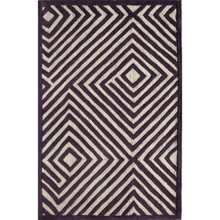 Amore Purple Geometric Area Rug (8' x 10')