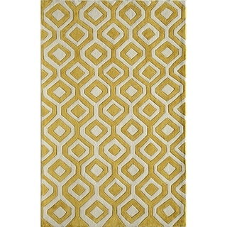 Amore Yellow Geometric Area Rug (8' x 10')