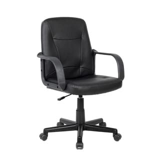 CorLiving WHL-103-C Black Leatherette Office Desk Chair