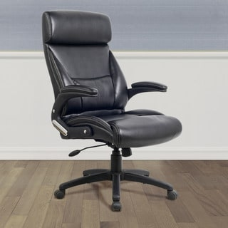 CorLiving WHL-202-C Black Leatherette Managerial Office Chair
