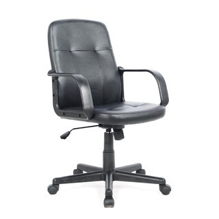 CorLiving WHL-100-C Black Leatherette Office Desk Chair